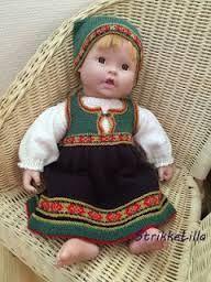 Bilderesultat for bunad til dukker Toddler Dolls, Baby Born, Doll Toys, Doll Clothes, Safari, Diy And Crafts, Ethnic, Patterns, Google