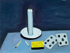 William Scott, Candle and Cards, 1949 or 1950, Oil on canvas, 29.8 × 36.2 cm / 11¾ × 14¼ in, Private collection