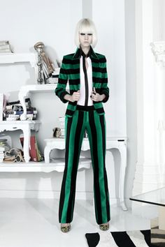 This is super fly. She's all stripey and badass. Reminds me of me. Or something...Alice + Olivia