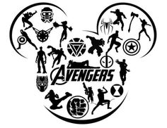 Avengers in Mickey silhouette