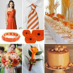 The Colors of Fall - Orange Wedding  http://blog.fiftyflowers.com/the-colors-of-fall