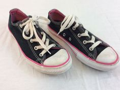 Converse All Star Girls Size 3 Pink And Black Skateboard Shoes  fashion   clothing   60e4abf44