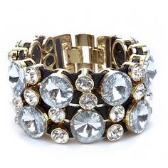 Sole Society - Crystal Wrap Bracelet
