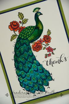 Perfect Peacock Sea Salt Watercolor Card - Stampin' Up! by hvanlooy - Cards and Paper Crafts at Splitcoaststampers Salt Watercolor, Watercolor Cards, Peacock Art, Peacock Drawing, Peacock Colors, Peacock Feathers, Card Making Inspiration, Making Ideas, Perfect Peacock