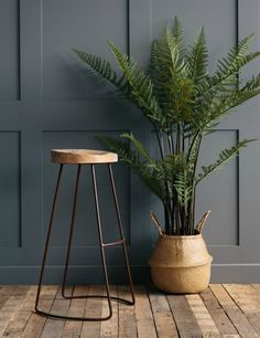 Industrial Bar Stool / Rose & Grey