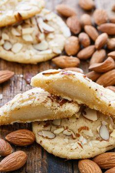 Marzipan-Stuffed Almond Sugar Cookies