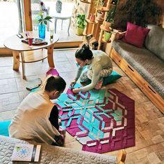Beauty girls are making  beauty mandala carpets  ♻ ❣    https://carawonga.com/product/water-lily-2in1-set/    #yoga #meditation #meditate #namaste #yoga #yogi #yogini #yogaddict #yogaaddict #yogainspiration #instayoga #yogagirl #om #peaceofmind #boholiving #pattern #texture #rugs #creative #patterndesign #textilepattern #ethicallymade #sustainable #ethical #greenliving #consciousliving #fairtrade   #sustainableliving #sustainablestyle #sustainability