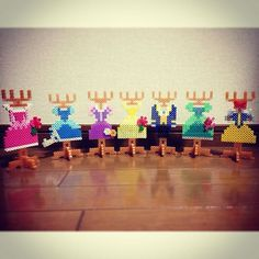 Inspired Disney Princess accessoires holder perler beads by ringo_0122