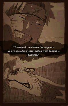 Kurama et Naruto❤ Moi ça m aurais pas dérangée d être réceptacle. Je sais que j aurai souffert enfant, mais si je fais des efforts comme Naruto et que je peux avoir un ami toujours avec moi comme Kurama ( que j adore ), je serai heureuse et jamais seule!
