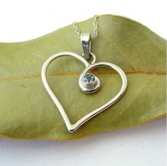 'Always in My Heart' Birthstone Necklace - Sterling Silver
