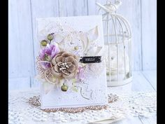 Romantic Card Step by step with Penny Black * Emilia Sieradzan * - YouTube