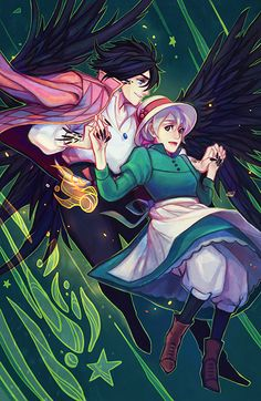 howl's moving castle howl and sophie artwork by faizzom