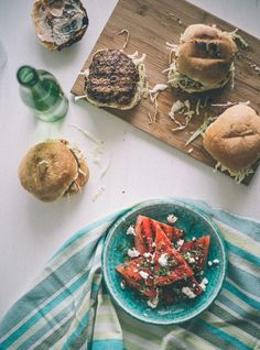 Lamb Burgers with a Chargrilled Watermelon Salad (Souvlaki For The Soul)