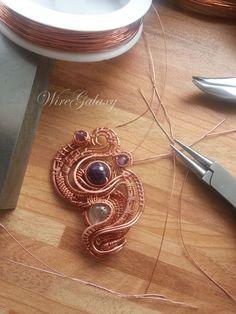 Wirework by WireGalaxy https://www.facebook.com/pg/KaterynaChernenko/photos/ #workshop #jewelry # #wiregalaxy #wirewrapped #studia #artisan #mistic #magic #boho #steampunk #spiritual #jewelry #amulet