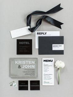 Black and white masculine wedding paper suite: Photography: Samantha James Photography - www.samanthajamesphoto.com/   Read More on SMP: http://www.stylemepretty.com/2016/12/06//