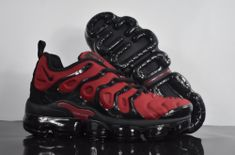 Hot Selling Nike Air VaporMax Plus TN Burgundy Black Sneakers Men's Running Shoes Cute Nike Shoes, Black Nike Shoes, Cute Nikes, Nike Shoes Outfits, Black Sneakers, Shoes Sneakers, Men's Shoes, Shoes Style, Mens Nike Air