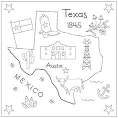 The Floss Box | Texas Embroidery (tons of other cute patterns here for not a lot of dollars!)
