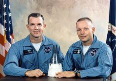 David R. Scott and Neil A. Armstrong, flight crew of Gemini VIII. (NASA)