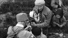 Finnish woman feeding the baby while waiting for evacuation in the rear areas. Finnish Women, Land Girls, World War Two, Armed Forces, Trauma, Finland, Wwii, Victorious, Baby
