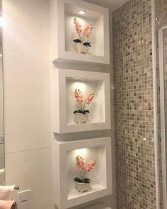 Inspiração de decoração para seu banheiro!!!! . Repost @infinitaflor_com