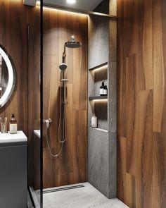 Фотографии ДИЗАЙН СТУДИЯ А+Б Bathroom Tub Shower, Bathroom Toilets, Small Bathroom, Bathroom Design Luxury, Modern Bathroom Design, Bath Design, Bad Inspiration, Bathroom Inspiration, Small Toilet