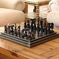 Auto part chess set, 'Rustic Warriors'