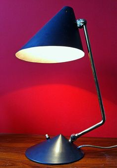 1950 MID CENTURY  BUSQUET HALA LOUIS KALFF TABLE DESK LAMP BRASS SERGE MOUILLE