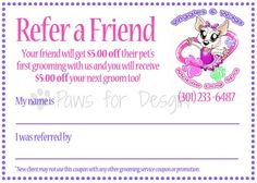Coupon design for Wiggles  Wags Mobile Dog Spa by Paws for Design