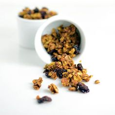 Paleo Pumpkin Cranberry Granola is a healthy breakfast or snack recipe perfect for fall, yet delicious any time of year. paleo breakfast for kids