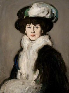 Hat with Bird- Anne Estelle Rice , by John Duncan Fergusson,1907