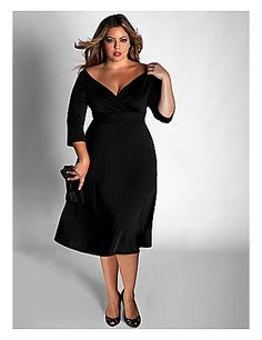 The most versatile little black dress! Add a belt and this basic little black dress goes from casual to chic in an instant. lanebryant.com