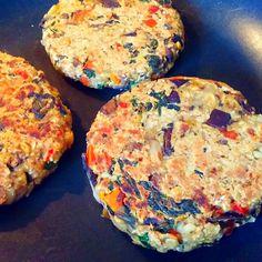 Klunker's Plant-Based Kitchen: Chickpea kale burger