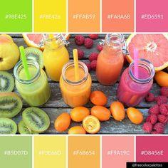 Clean living | rainbow juice | Color Palette Inspiration| digital art palette and brand color palette