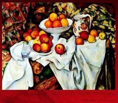 Натюрморт. Яблоки и апельсины. Поль Сезанн