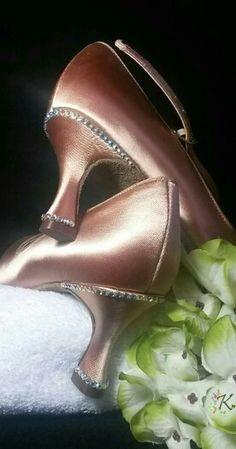 Customised by Kwerki - Gemma's Suttlely Gemmed Ballroom Shoes