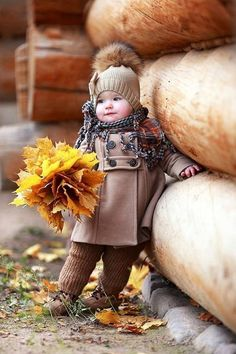 Pictures of cute kids can always brighten my day. These are some of my favorite photos of adorable children in fall settings. So Cute Baby, Baby Kind, Baby Love, Cute Kids, Cute Babies, Funny Kids, Baby Baby, Little People, Little Ones