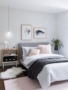 pink grey bedroom idea bedroom for women for teens for girls for couple master bedroom design. Bedroom Ideas For Couples Master Bedroom Design, Dream Bedroom, Home Bedroom, Bedroom Carpet, Master Suite, Bedroom Interiors, Bedroom Kids, Bedroom Apartment, Pink Gray Bedroom