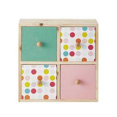 Caja con 4 cajones H 23 cm ALIX