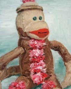 Vintage Sock Monkey Tail: Sock Monkey Paintings by Mike Geno .....