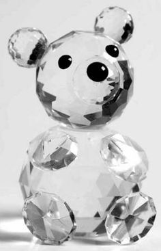 Swarovski Swarovski Crystal Figurines Bear-Mini-Round Foot Stones - No Box