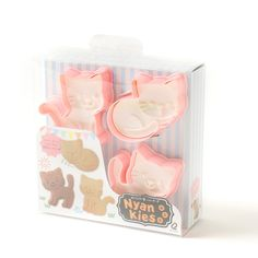 You only need to glance once at these **Nyankies cat cookie cutters** to know they'll be the *purr-fect* addition to your kitchen! This pastel set comes with **3 cookie cutters** in **3 different poses**: **Going for a Walk**, **Sitting**, and **Good Night**! Each one is **heat resistant up to 80℃** and comes with an adorable kitty paw button so they won't get stuck in the cutter.  These are all... #homekitchen