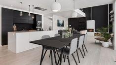 Conference Room, House Design, Bar, Table, Furniture, Home Decor, France, Kitchens, Modern