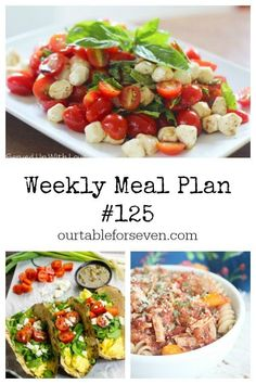 Weekly Meal Plan #125 - Table for Seven | food for you