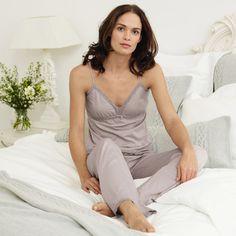 Lace Jersey Pyjamas - Ash Rose - Nightwear | The White Company