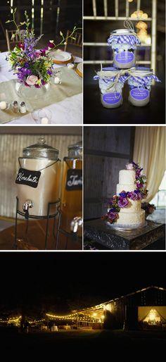 Pretty in Purple Barn Wedding in Arkansas | WeddingWire: The Blog
