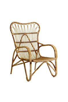 Rattanlænestol Neutral. Bamboo ChairsRattan ...