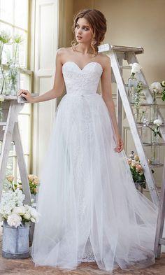 Style 2659, Tara Keely. Tulle, sweetheart wedding dress #weddingdress