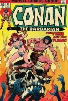 Conan the Barbarian 44 November 1974 Issue Marvel Comics Comic Book Superheroes, Marvel Comic Books, Comic Book Characters, Comic Character, Comic Books Art, Comic Art, Red Sonja, Conan The Barbarian Quotes, Conan Barbarian