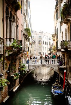 Venice, Italy-This is a place I must visit before I kick the bucket!!!! I just love it.