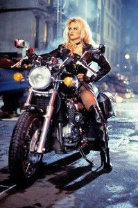 1996 Pamela Anderson Barb Wire #celebrities #motorcycles